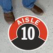 Aisle ID 10 Floor Sign