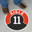 Aisle ID 11 Floor Sign
