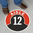 Aisle ID 12 Floor Sign