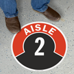Aisle ID 2 Floor Sign