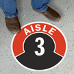 Aisle ID 3 Floor Sign