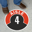 Aisle ID 4 Floor Sign