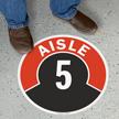 Aisle ID 5 Floor Sign