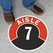 Aisle ID 7 Floor Sign