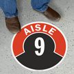 Aisle ID 9 Floor Sign