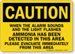 When Alarm Sounds Amonia Detected Caution Sign