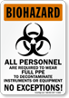 OSHA Biohazard Sign