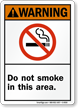 Don't Smoke In This Area Sign
