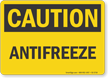 Antifreeze OSHA Caution Sign