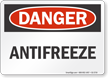 Antifreeze OSHA Danger Sign
