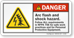 Arc Flash Shock Hazard, Follow Safe Practices Sign