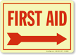 First Aid (Arrow Right) Sign