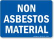 Asbestos Cancer Public Health Sign