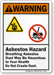 Breathing Asbestos Dust May Be Hazardous Sign