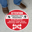 Attention Proper PPE Required Social Distance