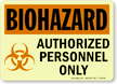 Biohazard Warning Glow Sign