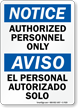 Bilingual OSHA Notice/Aviso Sign