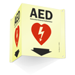 Automated External Defibrillator AED Projecting Sign
