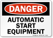 Danger: Automatic Start Equipment