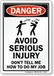 Danger Humorous Sign