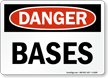 Bases OSHA Danger Sign