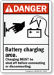 Battery Charging Area Danger Sign