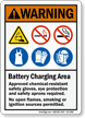 Battery Charging Area Warning Sign