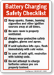 Battery Charging Safety Checklist Sign