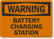 Battery Charging Station OSHA Warning Sign