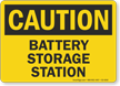 Battery Storage Station OSHA Caution Sign