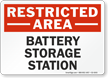 Battery Storage Station Restricted Area Sign