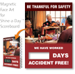 Be Thankful For Safety Scoreboard Changeable Magnetic Face
