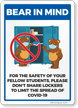 Bear In Mind: Please Do Not Share Lockers Signs