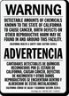 Bilingual California Prop 65 Warning Sign