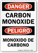 Bilingual Carbon Monoxide Sign