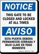 Bilingual OSHA Notice Sign