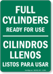Bilingual Gas Cylinder Sign