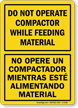 Bilingual Compactor Sign