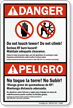 ANSI Bilingual Danger/Peligro Sign