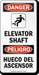 Bilingual Elevator OSHA Danger Sign