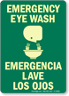 Emergency Eye Wash (with graphic) (Bilingual)