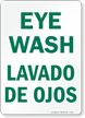 Eye Wash Sign (Bilingual)