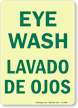 Eye Wash (Bilingual) Sign