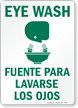 Bilingual Eyewash Sign