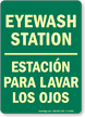 Bilingual Eyewash Station Glow Sign