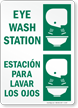Eye Wash Station Bilingual Sign