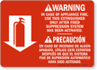 Bilingual Fire Extinguisher Instruction Warning Sign
