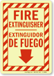 Bilingual Fire Extinguisher Extinguidor De Fuego Glow Sign