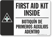 Bilingual First Aid Sign