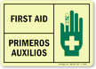First Aid (graphic on right) (Bilingual) Sign